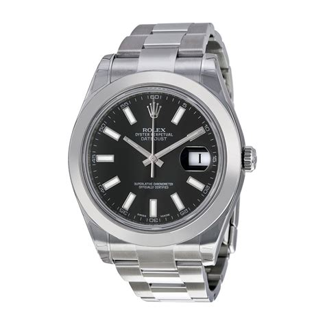 Rolex Automatic Rantai Black 2 rolex datejust ii black stainless steel automatic s 116300bkso rolex shop