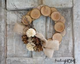 Wood amp burlap natural fall wreath from finding home