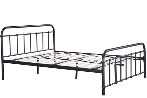black metal bed frame henley black metal hospital style bed frame single