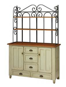 Amish bedford bakers rack hutch keystone collection