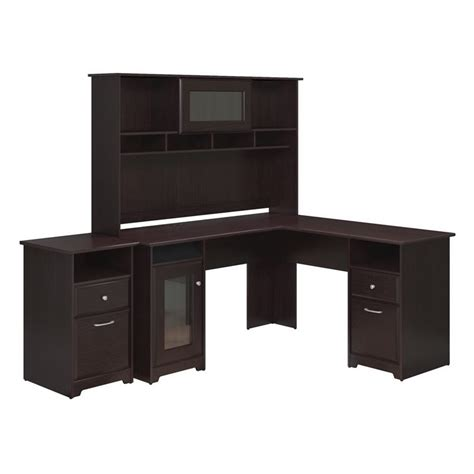 cabot l shaped desk with hutch cabot l shaped desk with hutch and file cabinet in