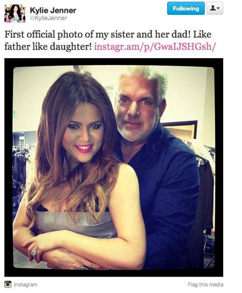 khloe kardashian and her real father khloe kardashian real dad hair stylist hairstyle