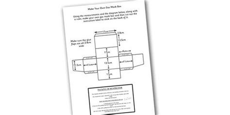 printable gas mask label word war two make your own gas mask box instructions and