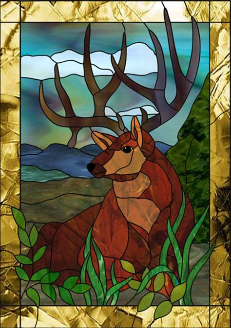 buck glass fish deer stained glass patterns patterns kid