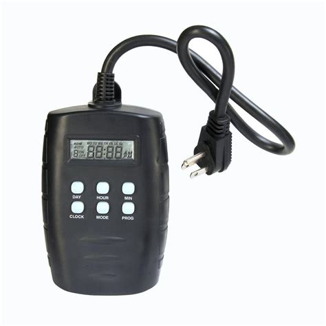 westek 15 amp plug in outdoor digital timer tm15dolb the
