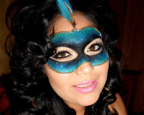 masquerade glitter mask tutorial  minute halloween