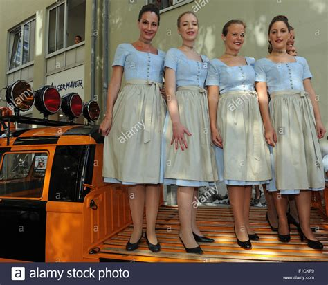 Luthaza Dress munich germany 1st sep 2015 lufthansa stewardesses in traditional stock photo royalty free
