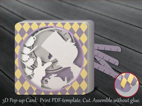 Laser Cut Pop Up Card Template by Tunnel Card 3d Pop Up Card Papercut Template Diy Mad