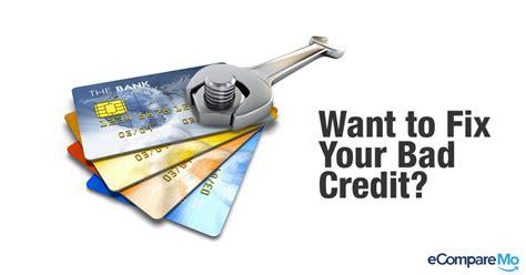 fix bad kredit 4 ways to fix your bad credit ecomparemo