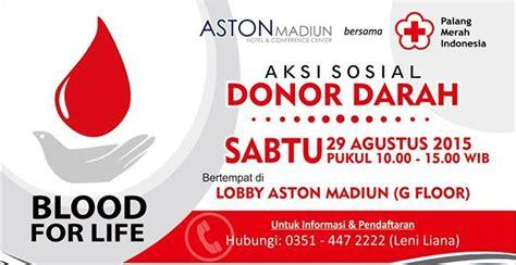 perayaan hut ri aston madiun himpun donor darah madiun