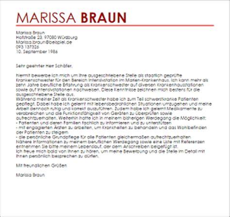 Bewerbungsschreiben Krankenhaus Bewerbungsschreiben Staatlich Gepr 252 Fte Krankenschwester F 252 R Intensivstation Livecareer