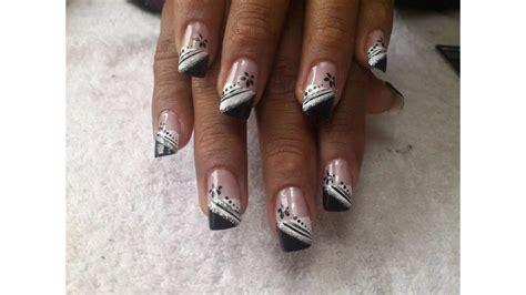 imagenes de uñas blancas con plata dise 241 os de u 241 as decoradas blancas con plata youtube