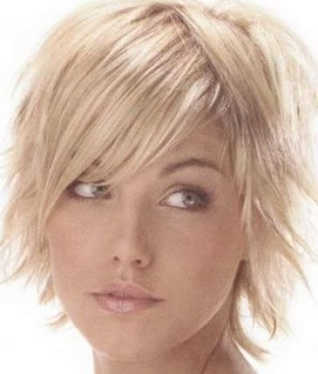haircuts for thin straight hair oval face short choppy shag hairstyles for thin straight hair oval