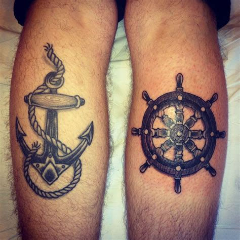 anchor and wheel tattoo designs nautical s anchor and ships wheel