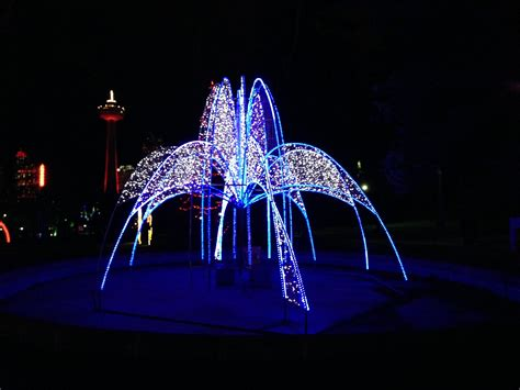 niagara falls light show best winter festival of lights displays skylon tower