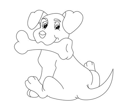 dog bone coloring pages