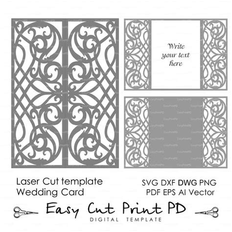 free card templates for silhouette cameo card template swirls stencil scroll door gate folds