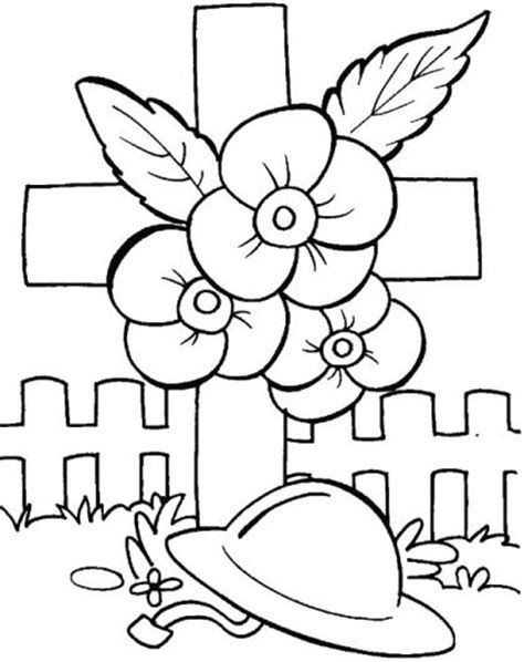 poppy wreath coloring page anzac day craft ideas helping children learn the