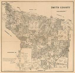 map of smith county map of smith county tx c1880 repro 21x20 ebay