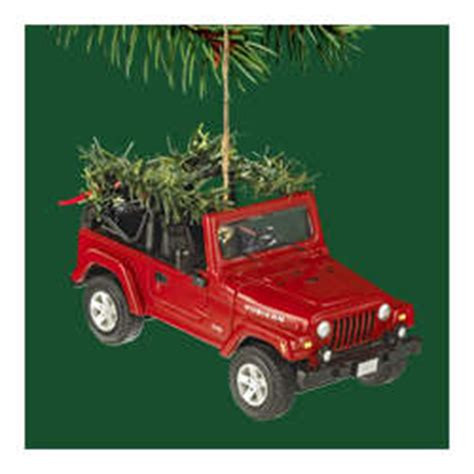 christmas jeep card jeep collectible christmas ornament by carlton cards