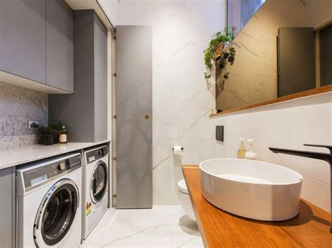laundry design the block laundry inspiration stone grey white and timber michael