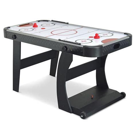 air hockey table dimensions the foldaway air hockey table hammacher schlemmer