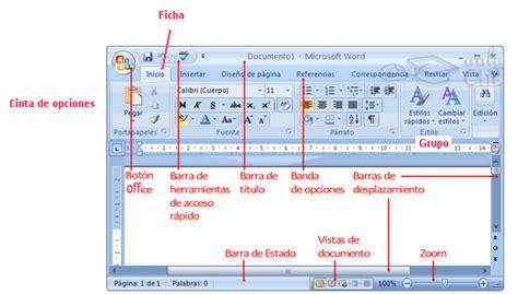partes de la ventana de microsoft word office de 2016 cibertareas partes de la ventana de word
