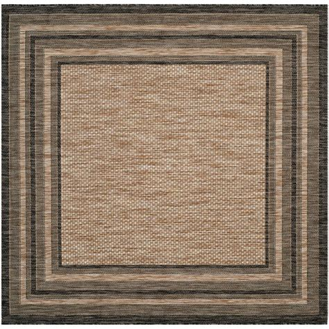 Square Outdoor Rug Safavieh Courtyard Black 6 Ft 7 In X 6 Ft 7 In Indoor Outdoor Square Area Rug Cy8475