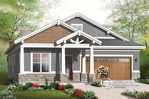 Environmentally Superior Bungalow Drummond House Plans Bungalow 2 Car Garage House Plans