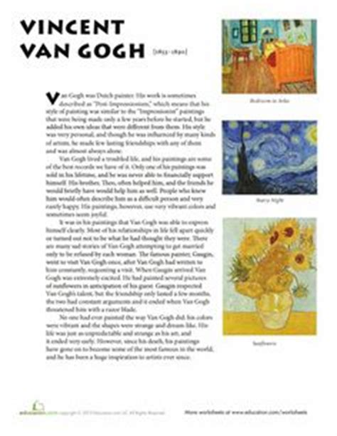 picasso biography for middle school van gogh art lessons on pinterest starry nights van