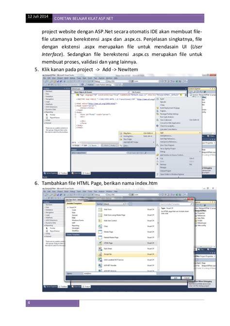 membuat website dengan asp net belajar kilat asp net