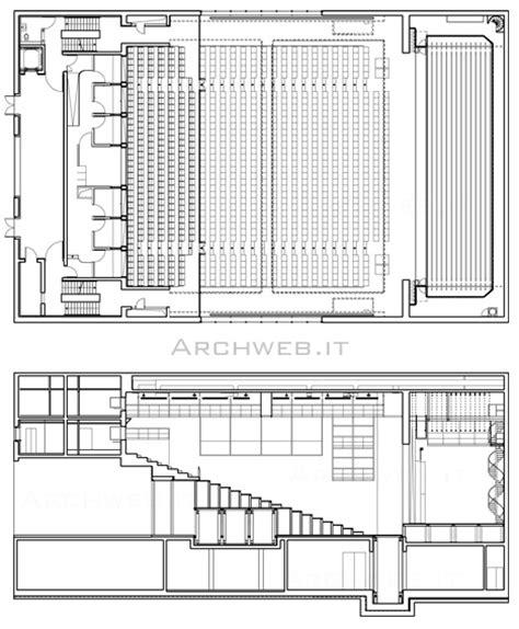 guardaroba dwg auditorium 4 dwg piante e sezioni