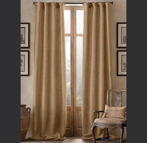 burlap window curtains burlap drapery accents the window with a rich natural