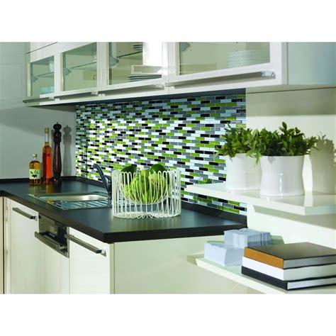 smart tiles murano verde 10 20 in x 9 10 in peel and