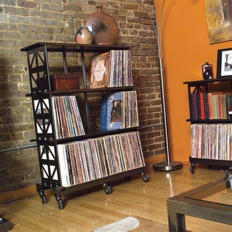 lp record storage rack 3 shelves boltz steel furniture