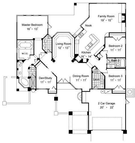 House Plans With View by House Plans Expansive Front Views