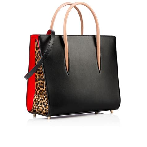 Christian Louboutin Tortoise And Patent Satchel Purses Designer Handbags And Reviews At The Purse Page by 2 Stores In Stock Christian Louboutin Black Calfskin And