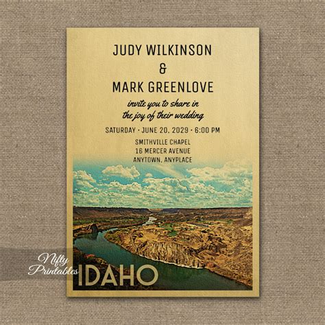 Idaho Wedding Invitations Printed idaho wedding invitation printed nifty printables