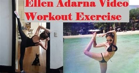 Exercise Chairs Ellen Adarna Workout Exercise Celebrity