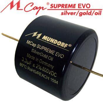 mundorf capacitors silver mundorf mcap supreme evo silver gold capacitors hifi collective
