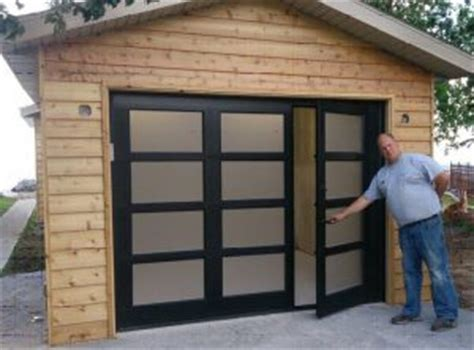 walk through garage doors the pros and cons of a garage door with walk through door