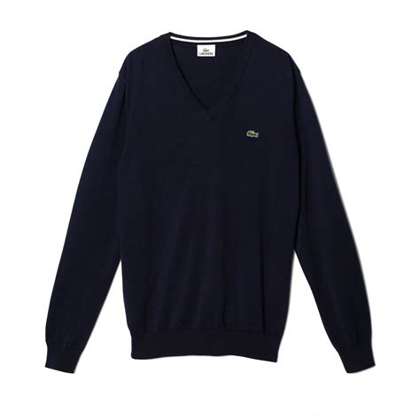 lacoste plain v neck sweater lacoste from gibbs menswear uk