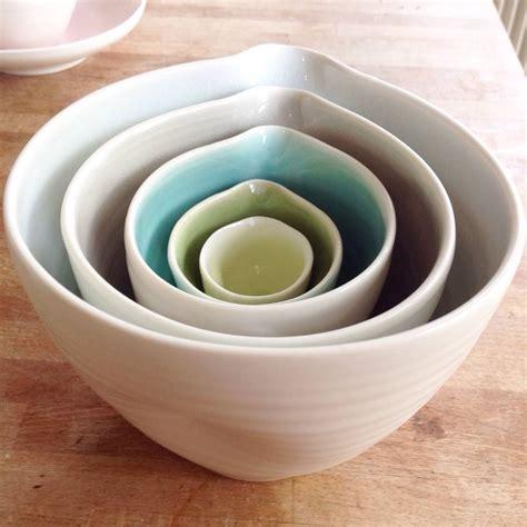 Handmade Porcelain Bowls - handmade nesting porcelain bowls by bloomfield