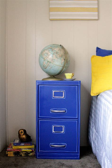 blue metal filing cabinet paint a file cabinet blue 5 rev 187 dollar store crafts