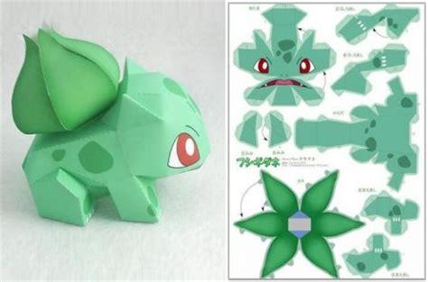 Origami Bulbasaur - figura de papel bulbasaur 183 manualidades de papel