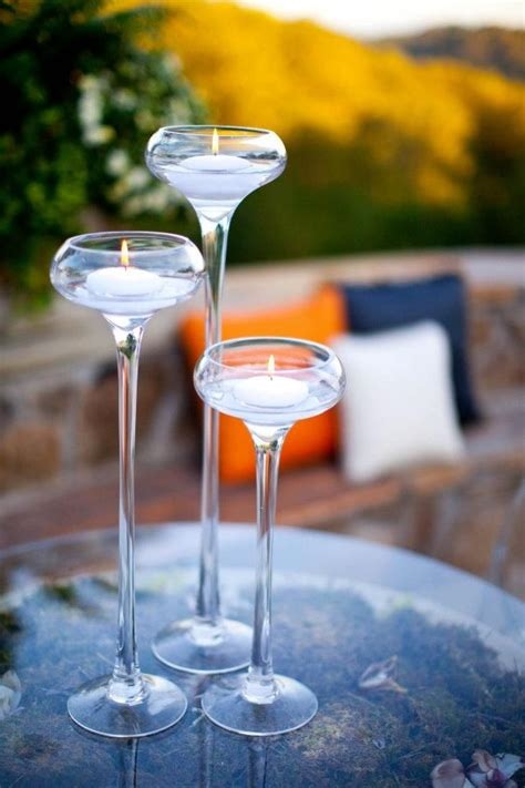 cocktail decor cocktail table decor floating candles decor inspiration