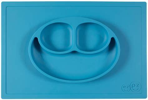 Ezpz Happy Mat Blue ezpz happy mat placemat plate blue