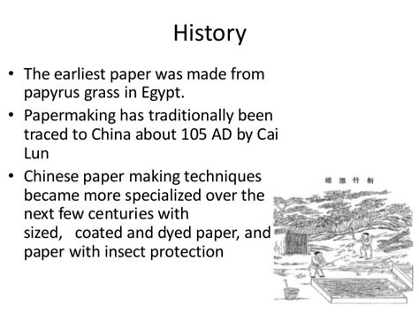 Cai Lun Paper Process - paper and pulp industry