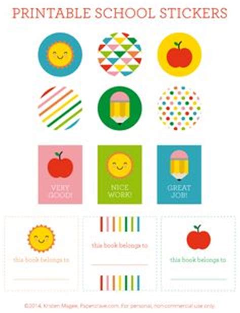 printable stickers for school 1000 images about free printables and more on pinterest
