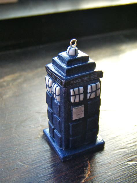 Origami Tardis - dr who tardis necklace by origami joe on deviantart